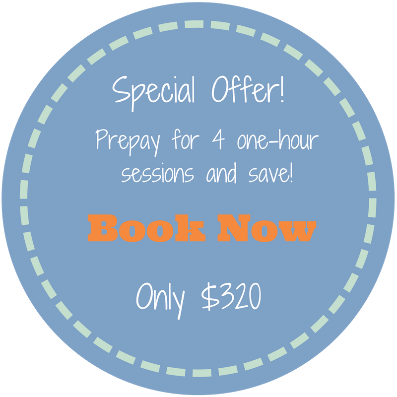 Click here to prepay for 3 sessions and get the 4th session FREE!