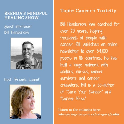 Brenda's mindful healing show guest Bill Henderson - Cure Your Cancer and Cancer Free author and coach