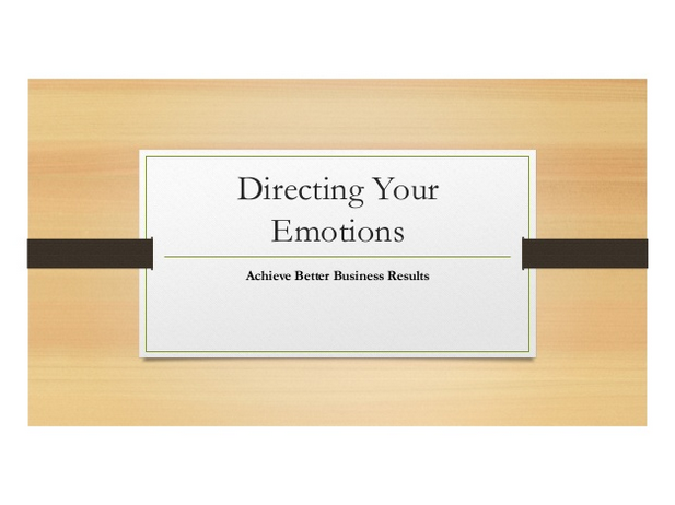 PowerPoint slide deck DIRECTING YOUR EMOTIONS Brenda Lainof