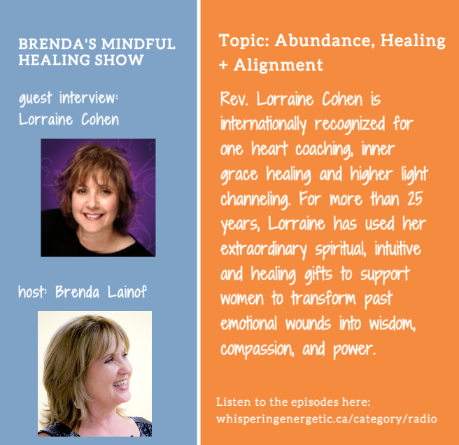 Lorraine Cohen Episode 81 on Alignment and Abundance on Brenda's Mindful Healing Show